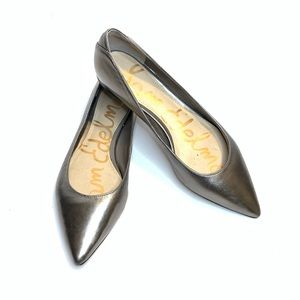 Sam Edelman 'Rae' pointed flats in Pewter Size 7